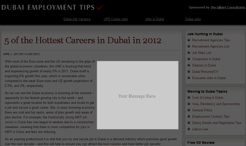 advertise on the best career guide in dubai