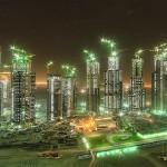 dubai towers at night